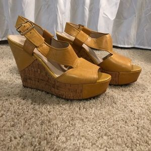 Tan Wedges size 8.5